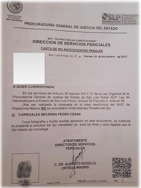 Lll Carta De No Antecedentes Penales Descargar Aqui