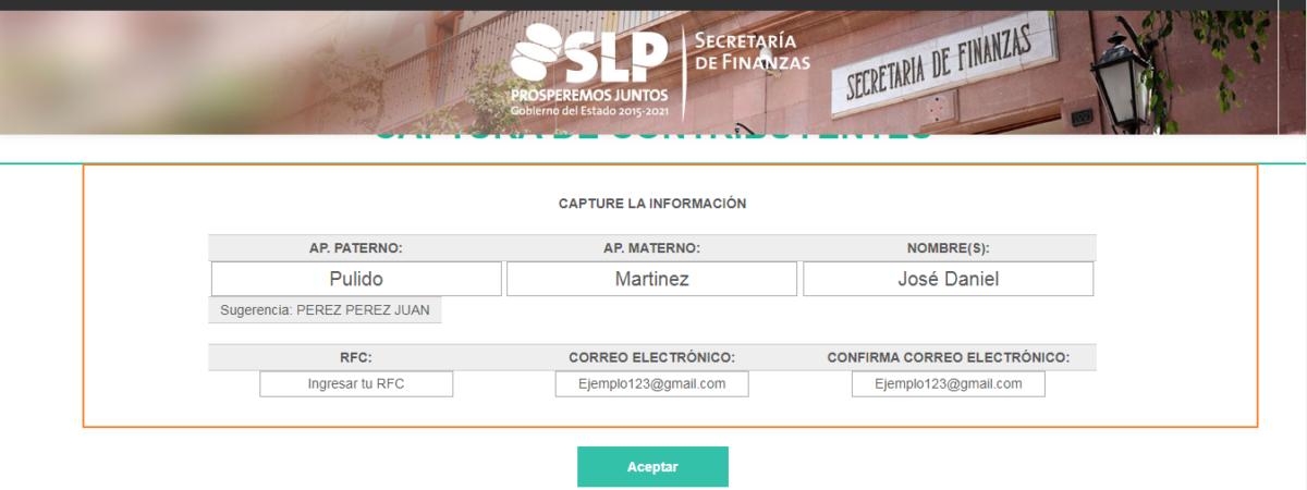 Carta de antecedentes no penales SLP | Tramitar en línea